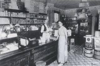 The interior of John Brown's grocery store at Yonge & Centre, which was in business from 1872-1884. How would you #CaptionThis this picture?