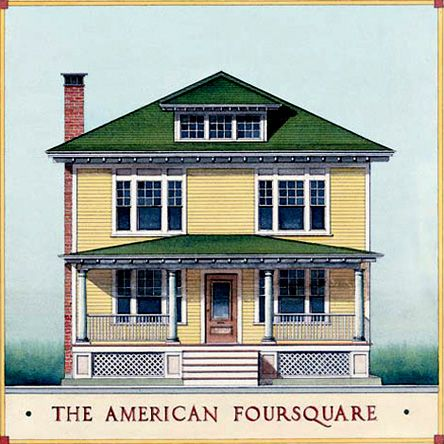17 best images about american foursquare houses on for Architectural styles of american homes