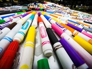 How many dried up markers have you had to toss in the trash? Every year Crayola makes enough markers to wrap around the Earth 3 times!! A group of kids from Sun Valley school started a petition asking Crayola to institute a recycling/take back program. They call themselves Kids Who Care, and they have over 62,000 signatures so far. Will you take a moment to sign their petition and help them reach their goal of 75,000? Thank You