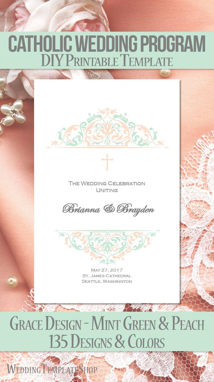 108 best Catholic Wedding Programs, DIY Printable Order of Service ...