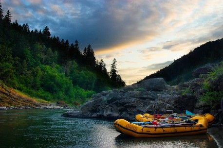 "Oregon's Rogue River winds its way through one of the most beautiful pine-forested canyons in North America and gained federal ""Wild & Scenic"" wilderness designation in 1968."