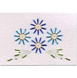Free Bead card stitching e-pattern in Free E-patterns patterns at Stitching Cards - ePatterns for paper embroidery