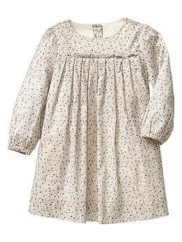 Pleated print dress   Gap