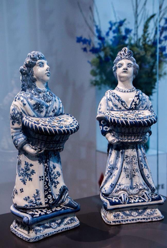 Willem de Derde en Mary twee Delfts blauw