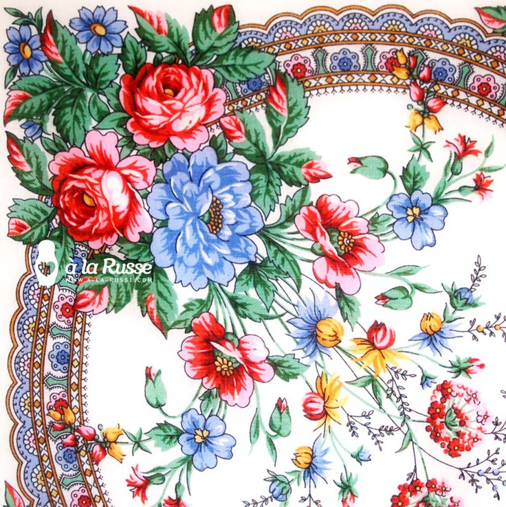 beautiful russian scarf / schönes tuch á la russe / узор русского платка