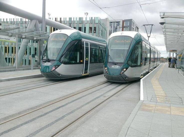 Nottingham Station tram stop.