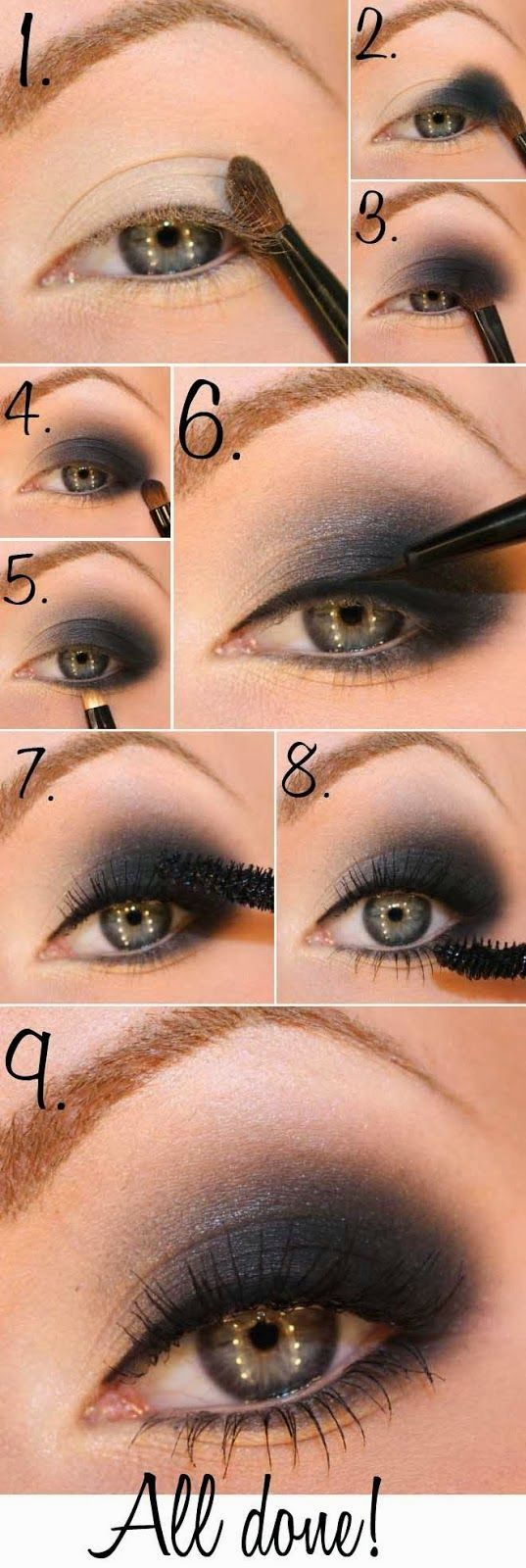 DIY Smokey eyes ( sorry... picture tutorial only)