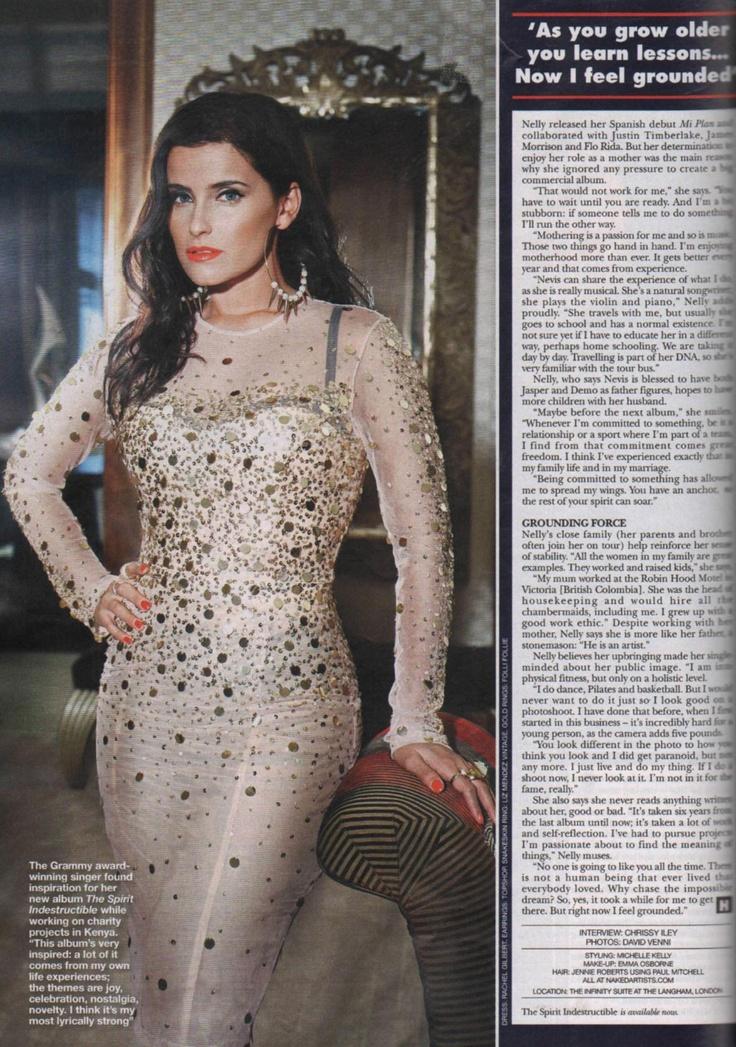 Nelly Furtado wearinf Folli Follie elements ring in Hello! magazine!