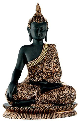 Hand Carved Meditating Lord Buddha Resin Idol Sculpture Statue with Zircons - 11 Inches Krishna Mart India http://www.amazon.com/dp/B00YXCVCY4/ref=cm_sw_r_pi_dp_6l9Evb05552GV