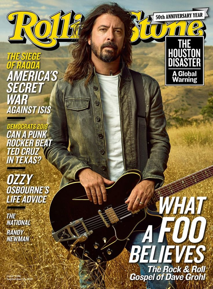 Dave Grohl on the September 21, 2017 cover.