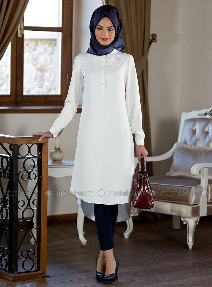 Hijab Fashion 2016/2017: Sélection de looks tendances spécial voilées Look Descreption Kuaybe Gider #islamic #tunic