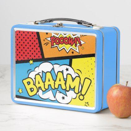 Cool Cartoon Stainless Lunchbox - red gifts color style cyo diy personalize unique