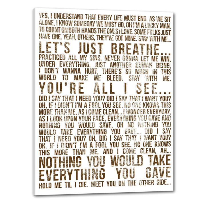 Lyric i want this more than life lyrics : 8 best Canvas Ideas images on Pinterest   Bedrooms, For the home ...