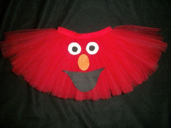 Elmo tutu, custom made up to a size 4t perfect for Elmo birthday or Elmo costume via Etsy
