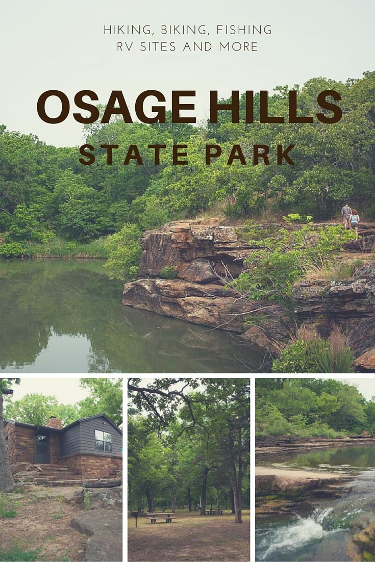 Osage Hills State Park is a gorgeous, uncrowded state park in Pawhuska. Cabin rentals are available as well as tent camping, tennis courts and a swimming pool.