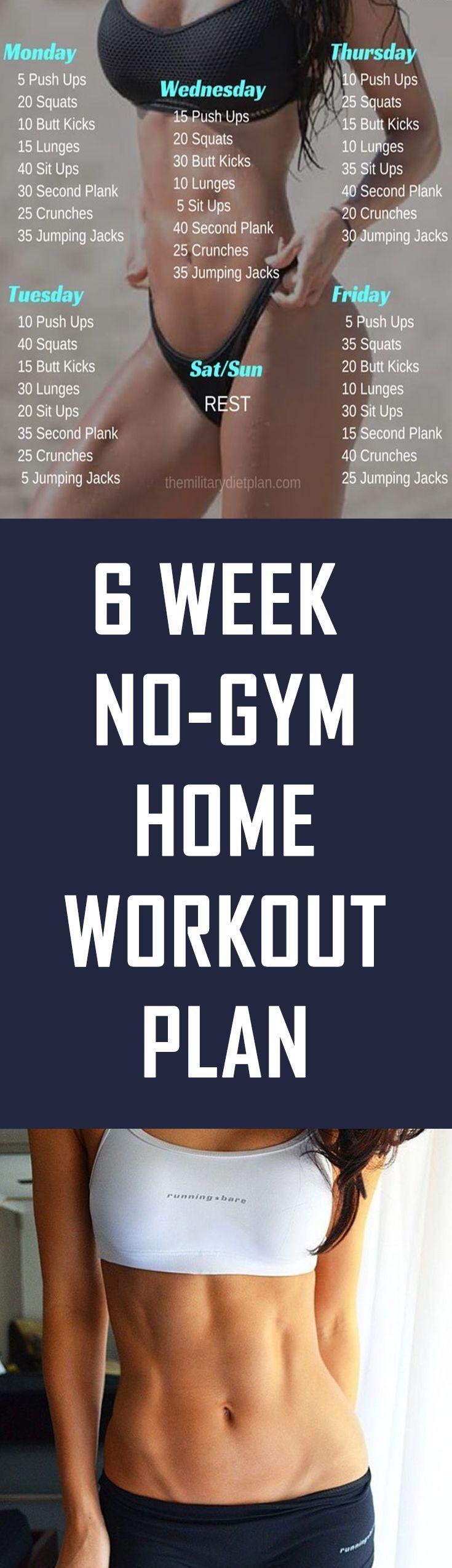 6-wöchiger Trainingsplan für zu Hause #hause #t…