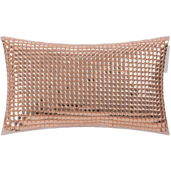 Kylie Minogue at Home Square Diamond Bed Cushion - 18x32cm - Rose Gold (€76) ❤ liked on Polyvore featuring home, home decor, throw pillows, gold, square throw pillows, rose gold home decor, rose gold home accessories, kylie minogue at home and diamond home decor
