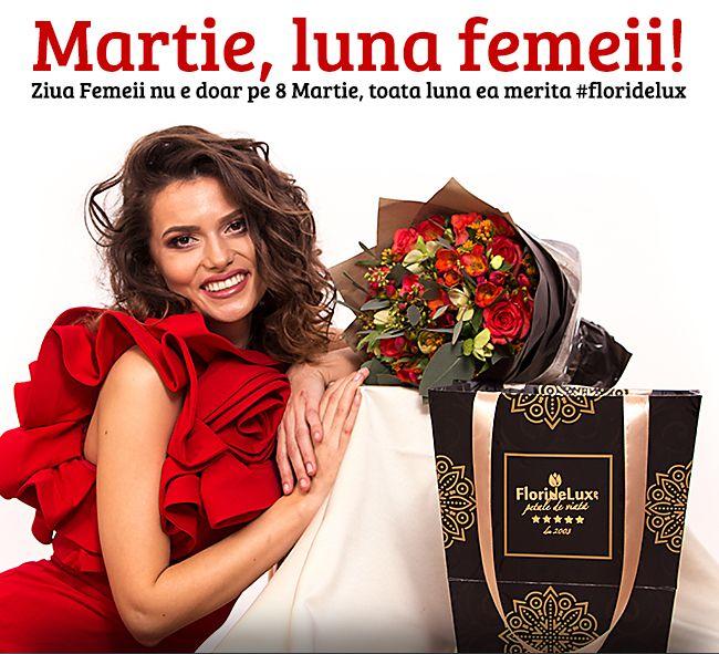 Pretuieste frumoasa femeie! 💞 La multi ani pentru azi si pentru toata luna martie! #floridelux #8martie #lunamartie #ziuamamei  https://www.floridelux.ro/