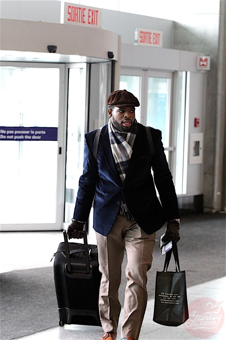 PK Subban on the road winter look!   Blue velvet blazer, beige trousers by yours truly!