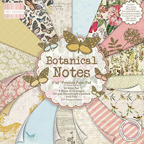 First Edition 6 x 6-inch Botanical Notes Papers