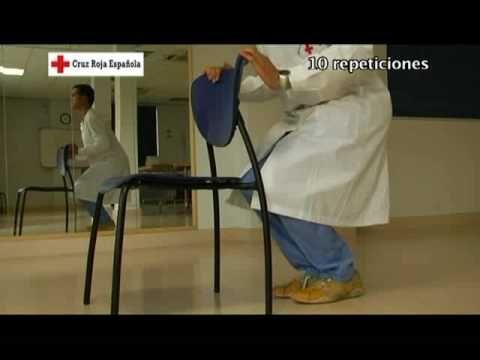 Gimnasia para personas mayores. Ejercicio 5: ejercicios con los pies.