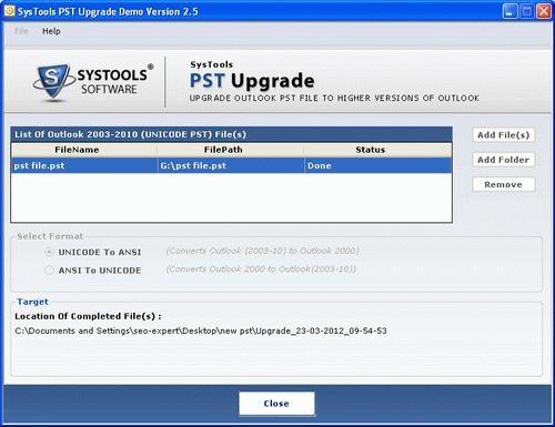 PST upgrade and Downgrade