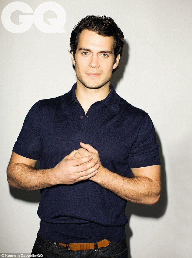 Henry Cavil - I'm not much for young pretty boys - but wow that's one hot super man! lol  Henry Cavill explained how he met his onscreen father Russell Crowe when he was still a schoolboy