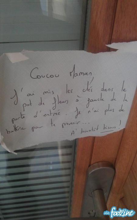 Message de Voisinage : Le Mot Idiot de la Fille - foozine.com