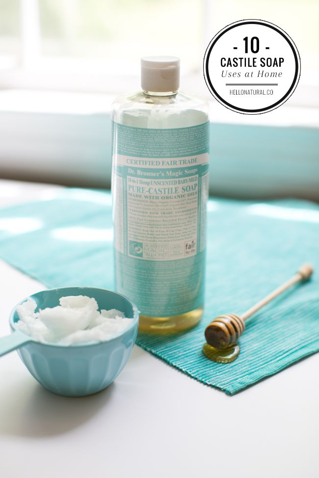 10 Household Products To Replace with Castile Soap | http://hellonatural.co/castile-soap-uses/