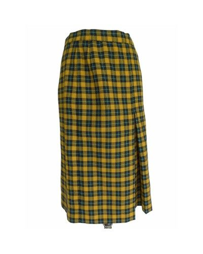 99e59a3a4ce Vintage Yellow Cotton Skirt - Rena Lange | Dede Couture | Women's ...