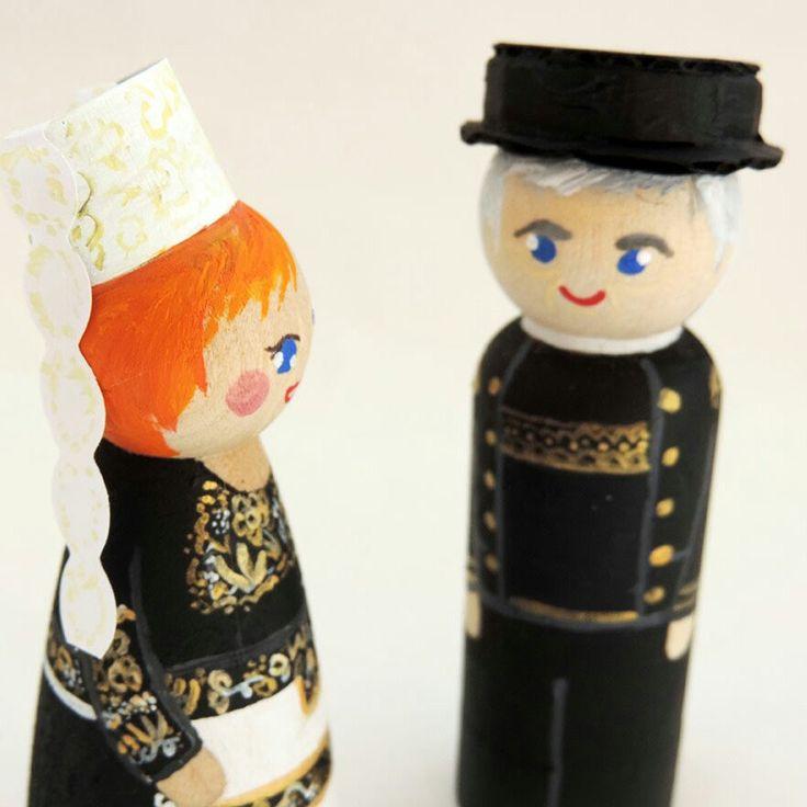 Figurines personnalisées sur le thème de la Bretagne, pour un mariage breton !!!