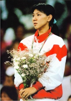 Susi Susanti, Best Female Badminton player in the 90's,  Olympic Gold, World Champion, All England Champion