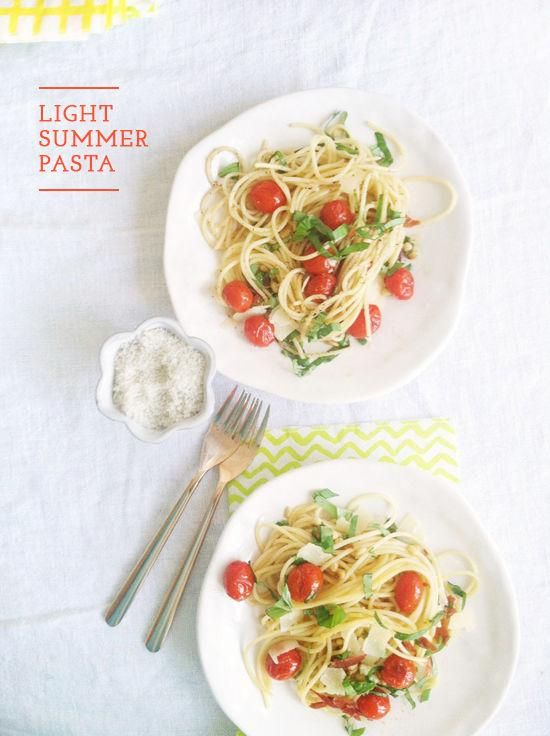 How to make a yummy light summer pasta.