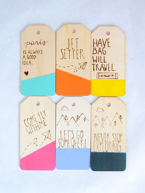 DIY COLOR DIPPED & ETCHED LUGGAGE TAG TUTORIAL - Best Friends For Frosting