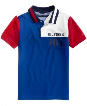 Tommy Hilfiger Myer Cotton Polo, Toddler Boys (2T-5T) - Blue 2T