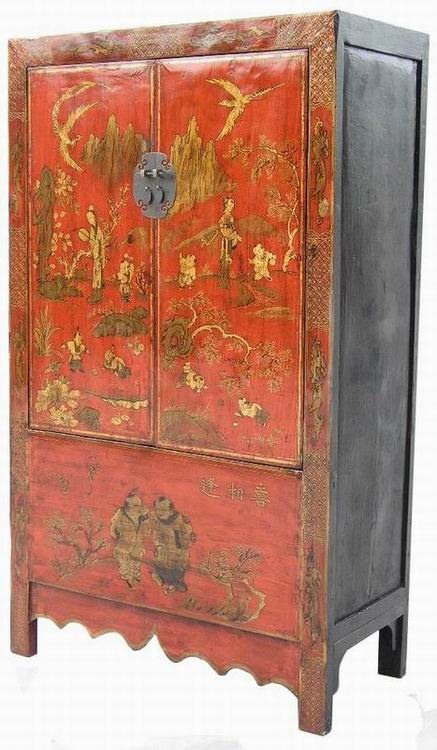 A1s0376 chinese antique sanxi cabinet with mom and her for Oriental furniture australia