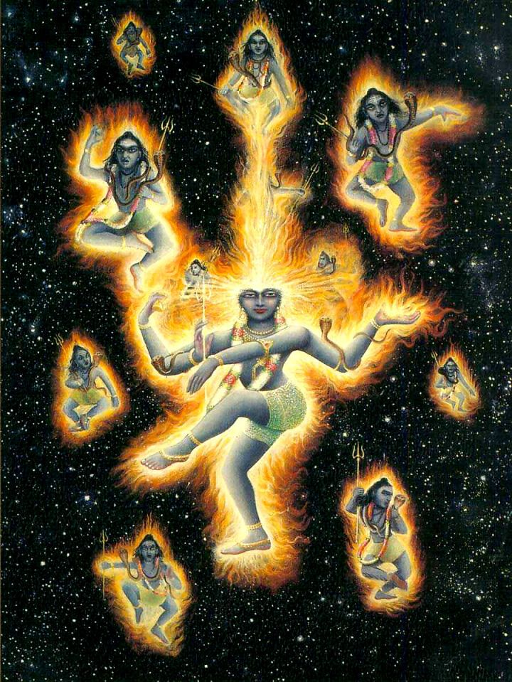 To start the Kalchakra (time), Shiva needs to create the vaccum space in Dark Energy. According to Shiv Puran their is Eka Dasa Rudra in Universe, it means 10 RUDRA are made along with Universe. In ShivPuran it is mentioned that Rudra has same power as Shiva but they work only to destroy galaxies, stars and planets.