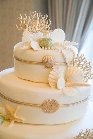 Wedding Inspirations Found: 16 Beach Theme Wedding Cakes, Inspiration