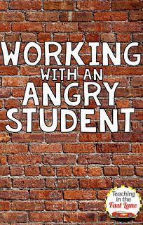Do you have a student who can't seem to get anything done because of anger or frustration? This post has 5 ideas for helping that student to cope and participate in class. #5 worked really well for me!