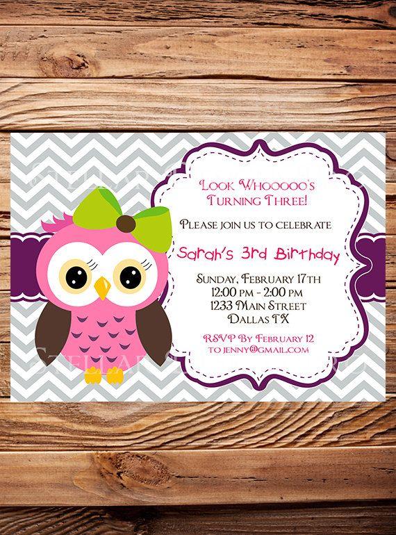 Best 25 Owl birthday invitations ideas – Owl Birthday Invitations
