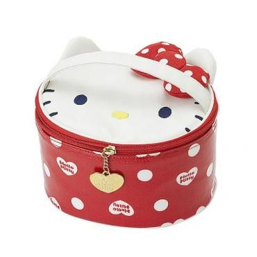 Sanrio Hello Kitty Vanity Case Polka-dot Ribbon I Love Kitty Japan Exclusive