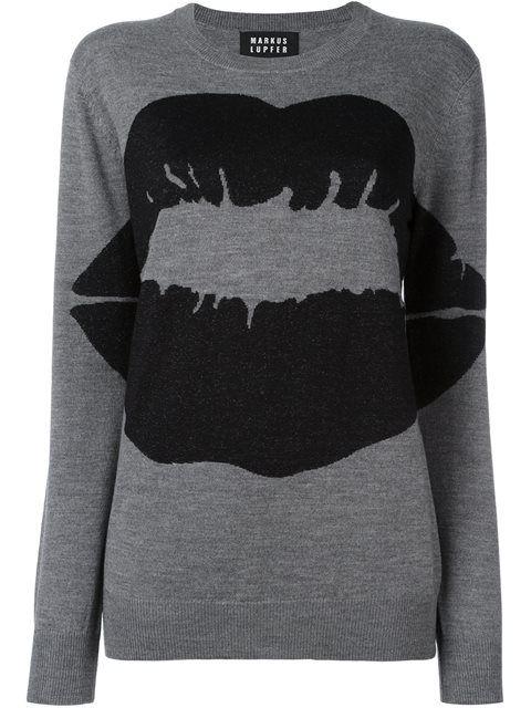 MARKUS LUPFER 'Kiss' Print Pullover. #markuslupfer #cloth #pullover