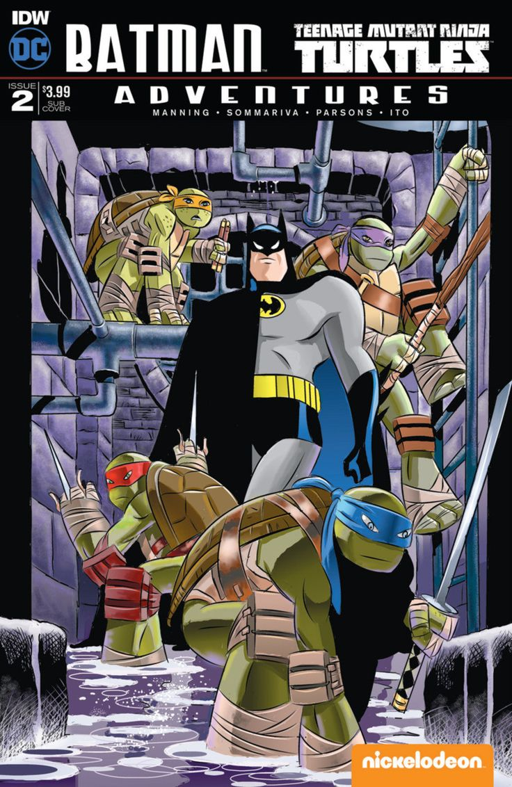 DC Comics/IDW - Batman Teenage Mutant Ninja Turtles Adventures #2 - Subscription Cover A