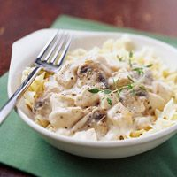 Moist chicken, earthy mushrooms, and sour cream combine in the slow cooker to create this classic chicken stroganoff.Chickenstroganoff, Sour Cream, Chicken Recipe, Crock Pots, Slow Cooker Chicken, Roasted Garlic, Chicken Stroganoff, Comforters Food, Chicken Breast