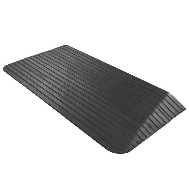 Silver Spring Solid Rubber Threshold Ramp 2 1 2 Rise Walmart Com In 2020 Threshold Ramp Rubber Ramp Wheelchair Ramp