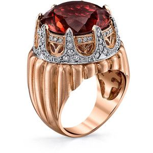 """Women's Rose Gold Ring by Dallas Prince Designs Royal Crown Ring with """"""""Merlot Tourmaline"""