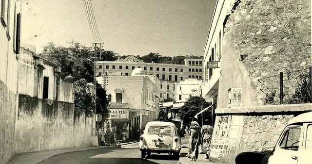 Tangiers c 1950s Postcard - By the Old Walls towards the Market and El Minzah Hotel by ronramstew, via Flickr