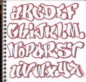 letras de grafite alfabeto