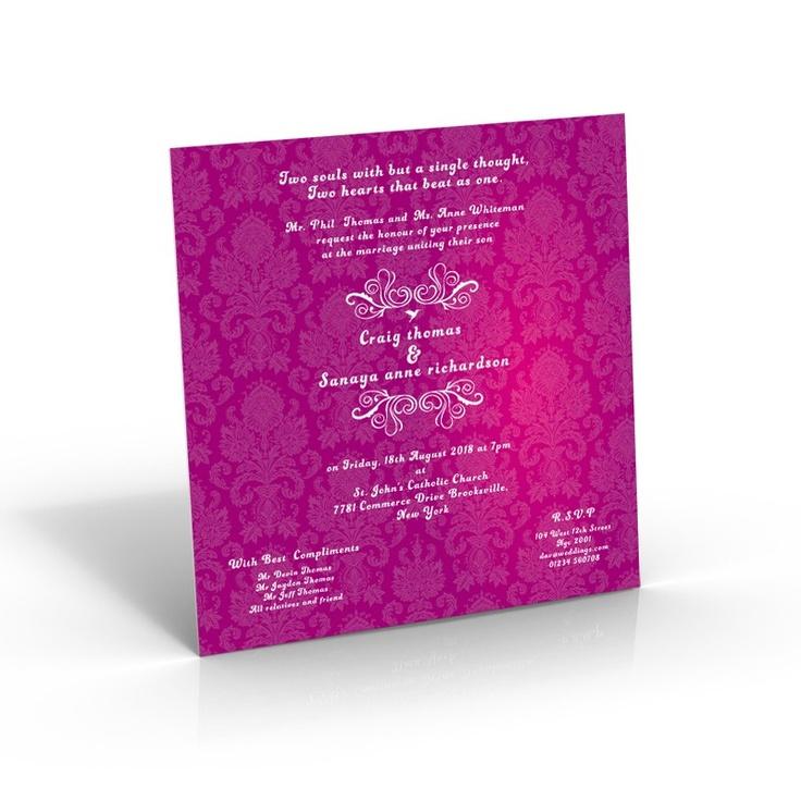 Square Wedding Invites | Classical Wedding Invitations - Amazing Wedding Cards http://shar.es/hFYC5
