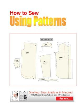 How to sew using patterns